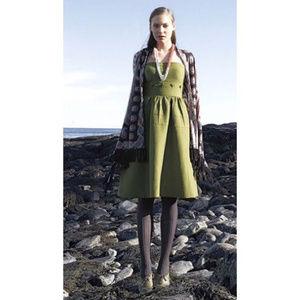 Anthropology Maeve green 2pc skirt top dress